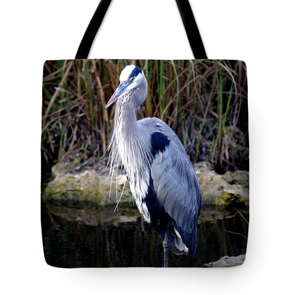 Everglades Heron Tote Bag by Marty Koch