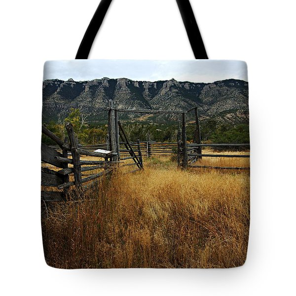 Ewing-snell Ranch 1 Tote Bag by Larry Ricker