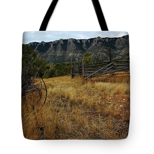 Ewing-Snell Ranch 2 Tote Bag by Larry Ricker