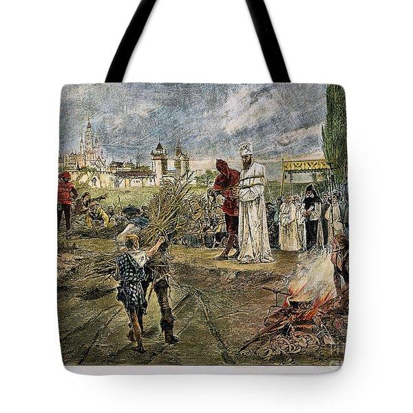 Execution Of Jan Hus, 1415 Tote Bag by Granger