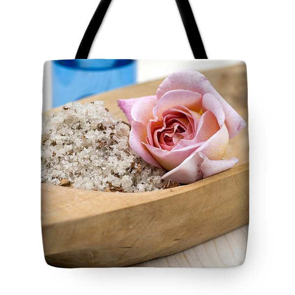 Exfoliating body scrub from sea salt and rose petals Tote Bag by Frank Tschakert