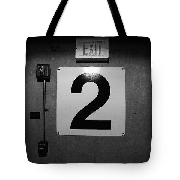 Exit Two Tote Bag by Bob Orsillo