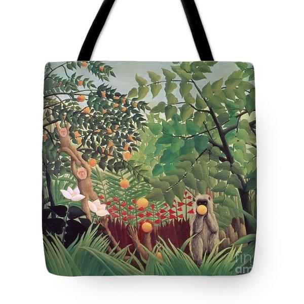 Exotic Landscape Tote Bag by Henri Rousseau