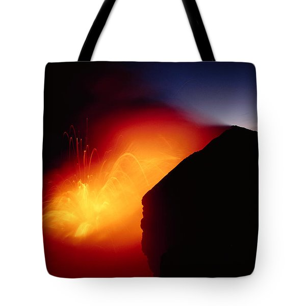 Explosion At Twilight Tote Bag by William Waterfall - Printscapes