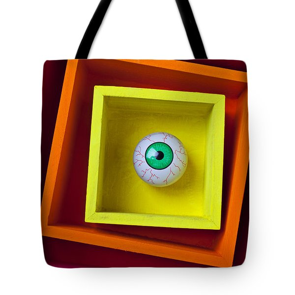 Eye In The Box Tote Bag by Garry Gay