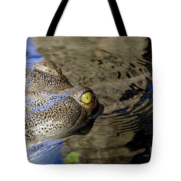 Eye Of The Crocodile Tote Bag by David Lee Thompson