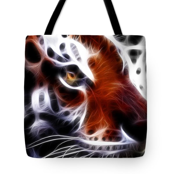 Eye Of The Tiger 2 Tote Bag by Wingsdomain Art and Photography