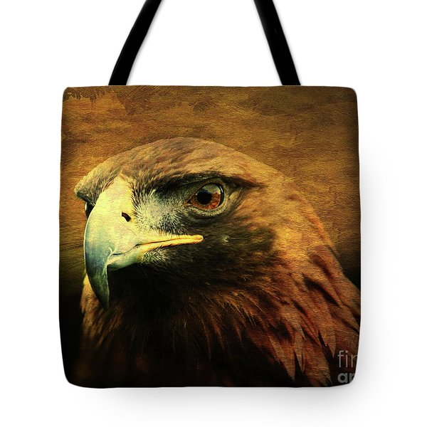 Eyes Of The Golden Hawk Tote Bag by Wingsdomain Art and Photography