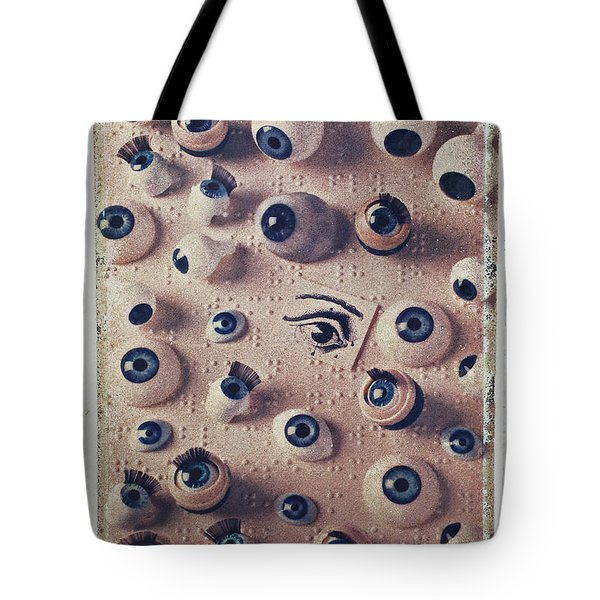 Eyes On Braille Page Tote Bag by Garry Gay