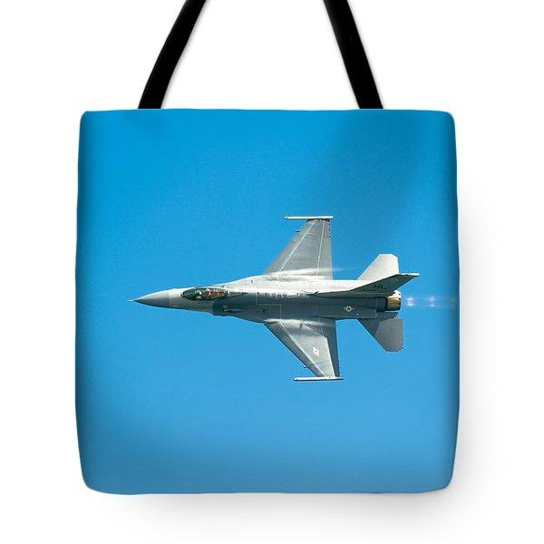 F-16 Full Speed Tote Bag by Sebastian Musial
