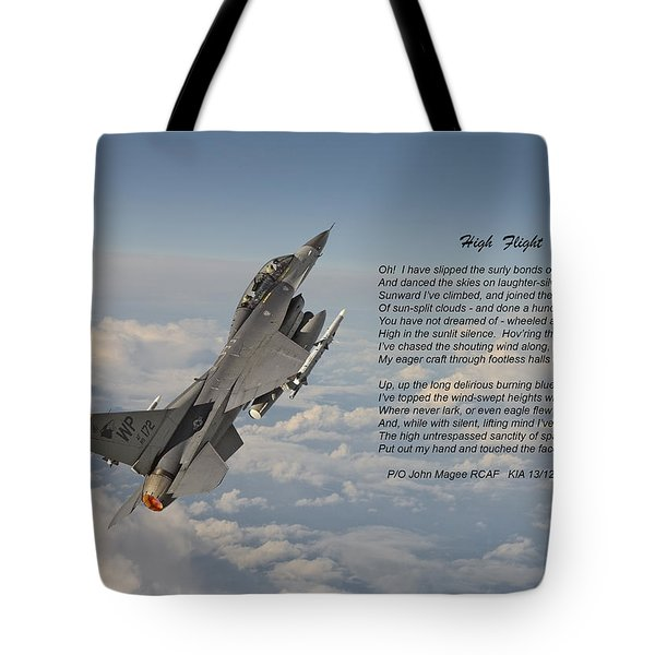 F16 - High Flight Tote Bag by Pat Speirs