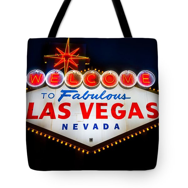 Fabulous Las Vegas Sign Tote Bag by Steve Gadomski