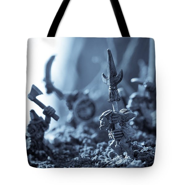 Facing The Enemy Tote Bag by Marc Garrido