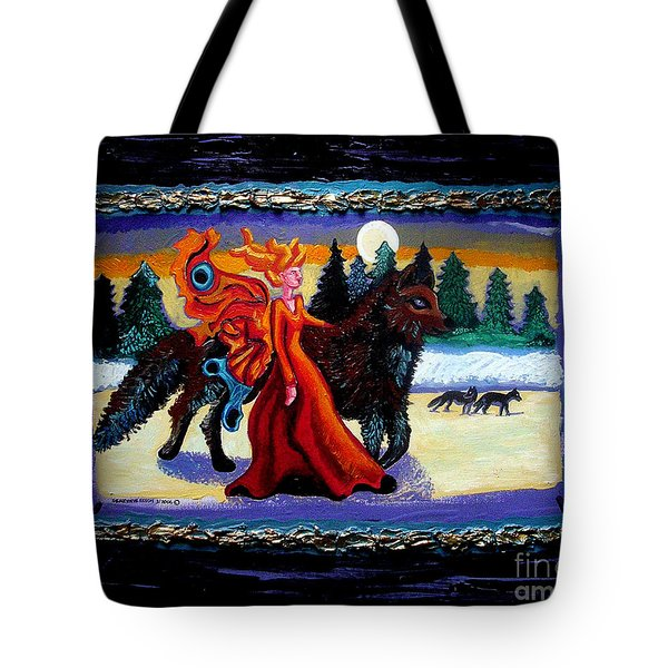 Faerie And Wolf Tote Bag by Genevieve Esson