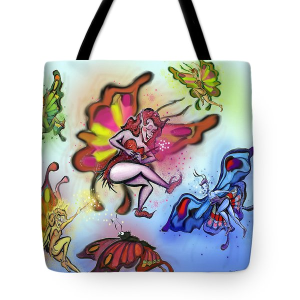 Faeries Tote Bag by Kevin Middleton