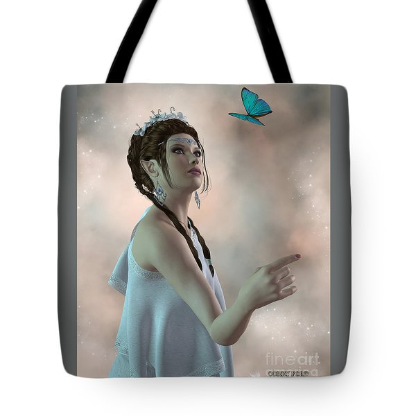 Fairy And Butterfly Tote Bag by Corey Ford