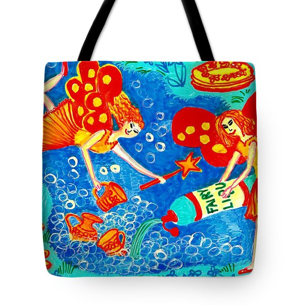 Fairy Liquid Tote Bag by Sushila Burgess