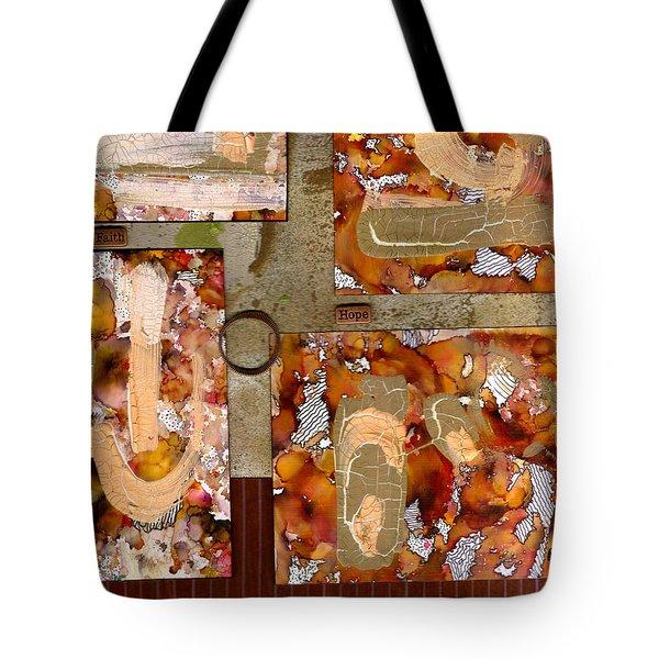 Faith Hope LOVE Tote Bag by Angela L Walker