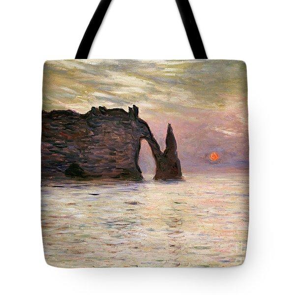 Falaise Detretat Tote Bag by Claude Monet