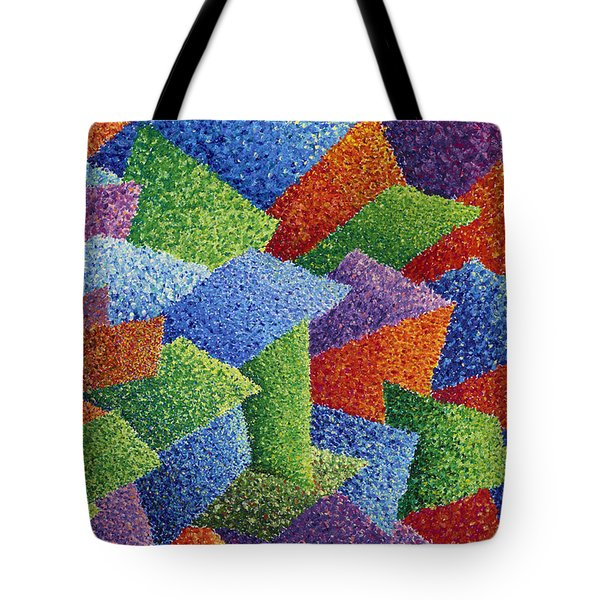 Fall Leaves on Grass Tote Bag by Sean Corcoran