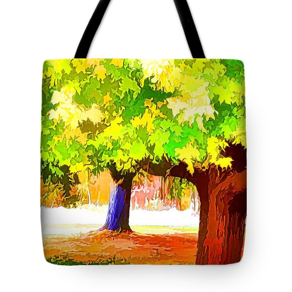 Fall Leaves Trees 1 Tote Bag by Lanjee Chee