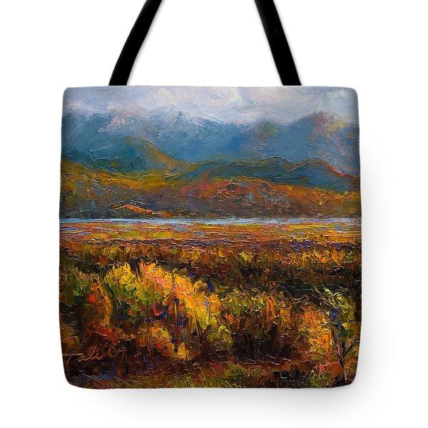 Fall Tote Bag by Talya Johnson