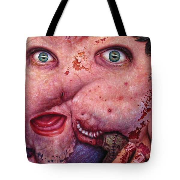 Falling Apart Tote Bag by James W Johnson