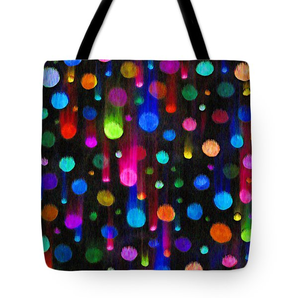 FALLING BALLS OF COLOR Tote Bag by Carl Deaville
