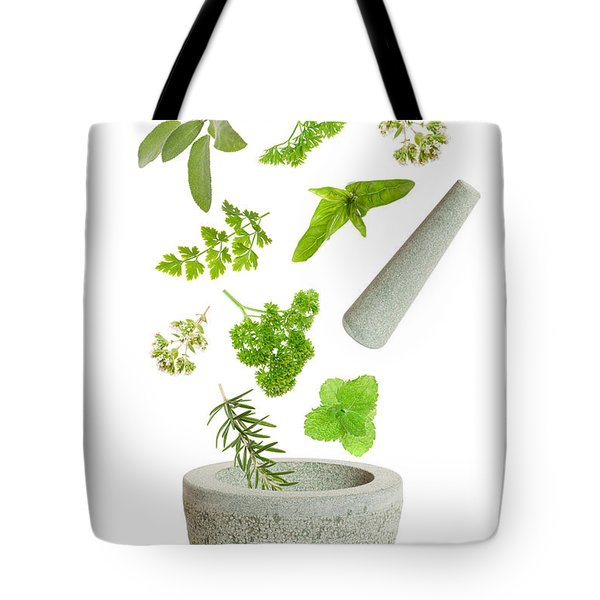 Falling Herbs Tote Bag by Amanda And Christopher Elwell