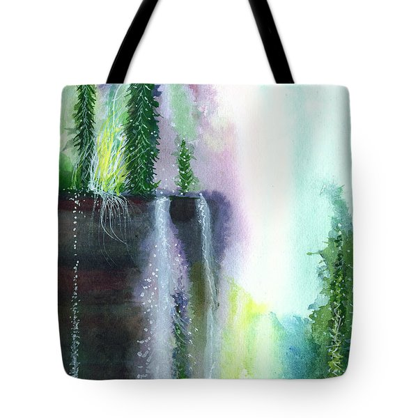 Falling waters 1 Tote Bag by Anil Nene