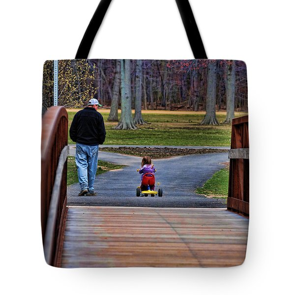 Family - A Father's Love Tote Bag by Paul Ward