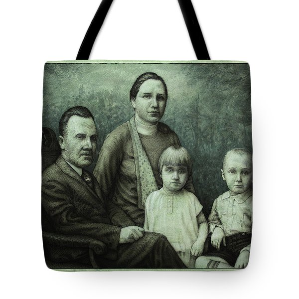 Family Portrait Tote Bag by James W Johnson