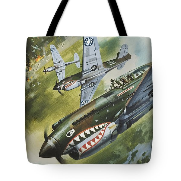 Famous Aircraft And Their Pilots Tote Bag by Wilf Hardy
