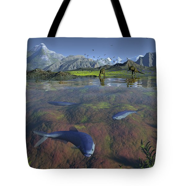 Fanged Enchodus Predatory Fish Tote Bag by Walter Myers