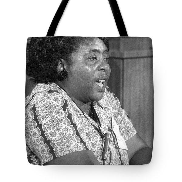Fannie Lou Hamer (1917-1977) Tote Bag by Granger
