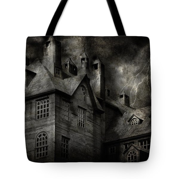 Fantasy - Haunted - It was a dark and stormy night Tote Bag by Mike Savad