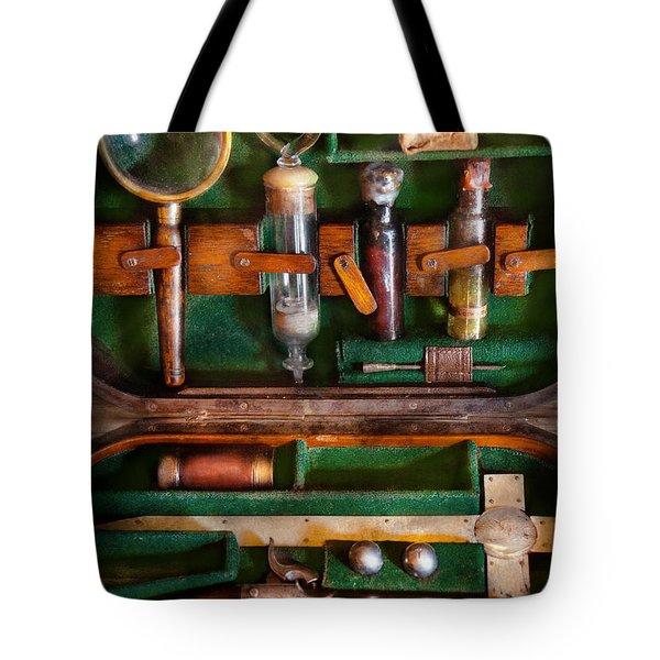 Fantasy - Emergency Vampire Kit  Tote Bag by Mike Savad