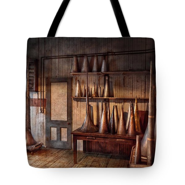 Fantasy - Wizard Hat Prototype Lab Tote Bag by Mike Savad