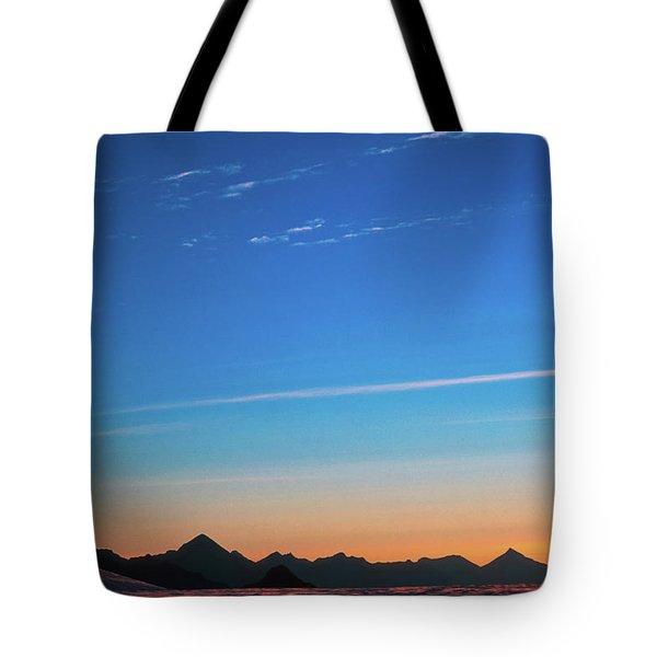 Far Mountains Tote Bag by Konstantin Dikovsky