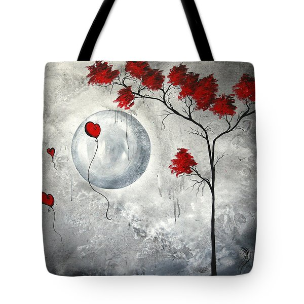 Far Side of the Moon by MADART Tote Bag by Megan Duncanson