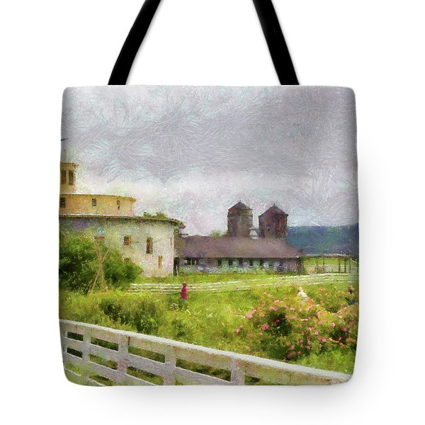 Farm - Barn - Farming is hard work Tote Bag by Mike Savad