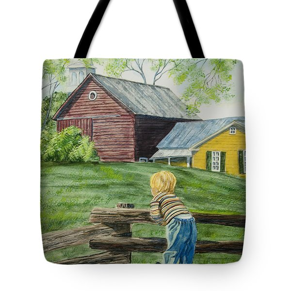 Farm Boy Tote Bag by Charlotte Blanchard