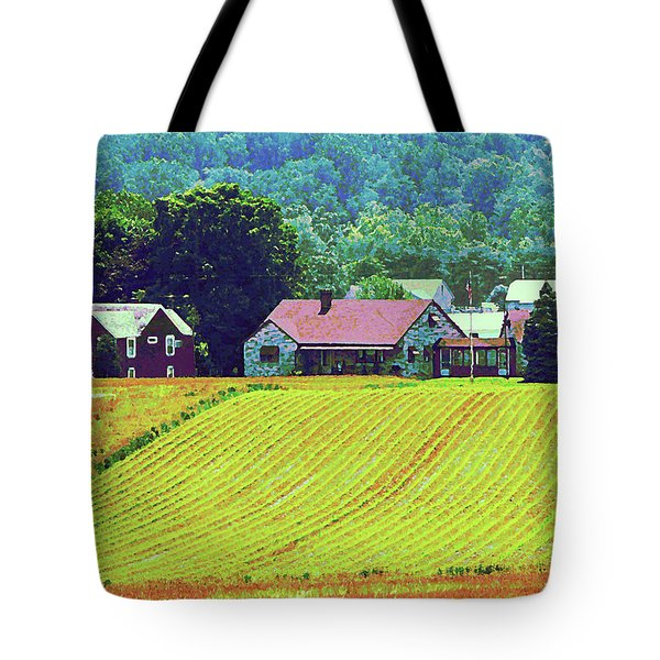 Farm Homestead Tote Bag by Susan Savad