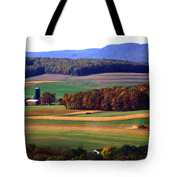 Farm Near Klingerstown Tote Bag by USDA and Photo Researchers