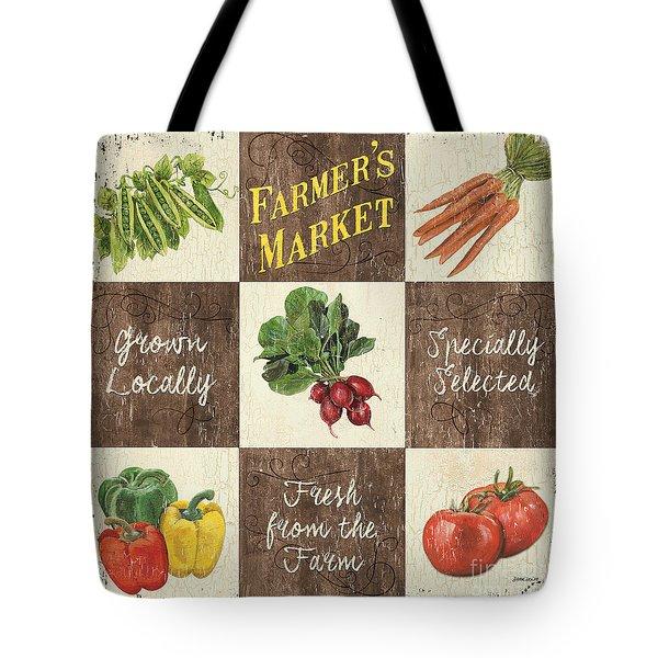 Farmer's Market Patch Tote Bag by Debbie DeWitt