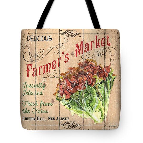 Farmer's Market Sign Tote Bag by Debbie DeWitt