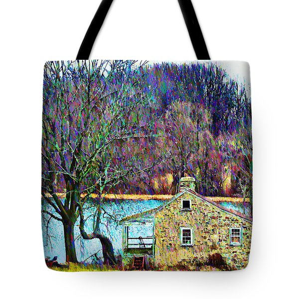 Farmhouse By The Lake Tote Bag by Bill Cannon