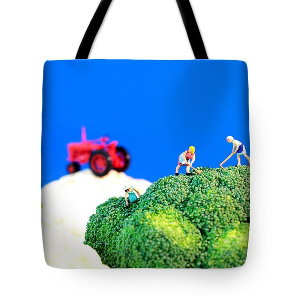 Farming On Broccoli And Cauliflower II Tote Bag by Paul Ge