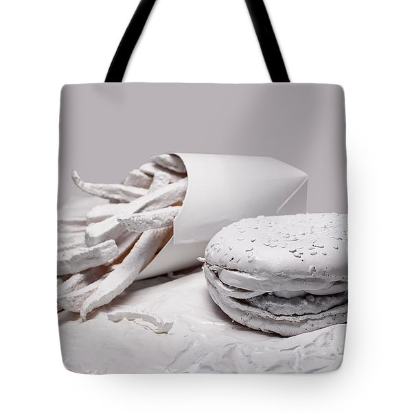 Fast Food - Burger And Fries Tote Bag by Tom Mc Nemar