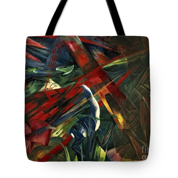 Fate Of The Animals Tote Bag by Franz Marc